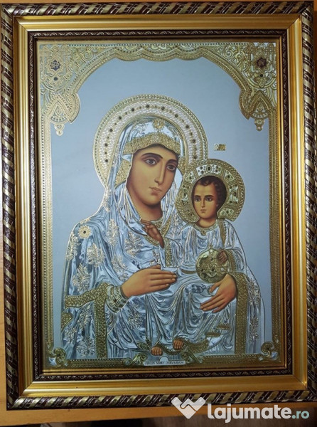 ICOANA RUSEASCA / Icoana Rusia 16 x 9 cm/ Icoana veche