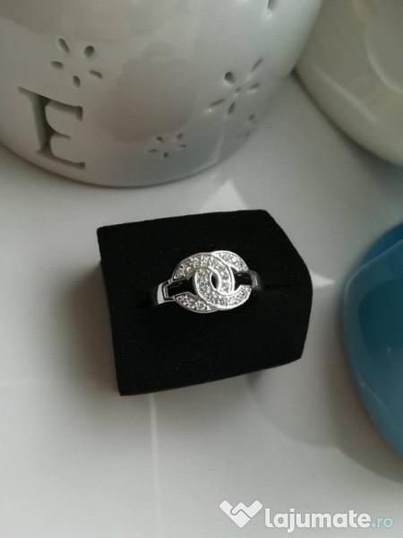 ceas 100% autentic cea mai fină selecție Inel Dama Fashion Placat Cu Aur CHANEL Argintiu Deosebit, 70 lei ...