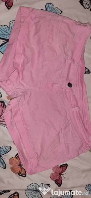 Pantaloni scurți roz damă