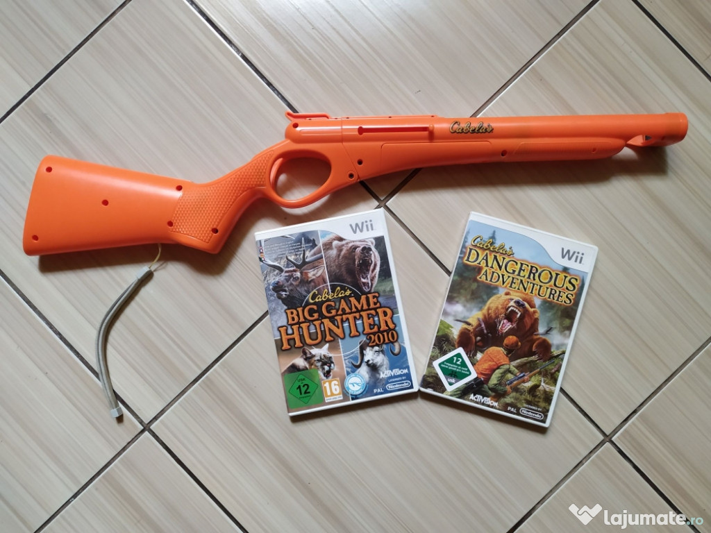 Wii: Arma vanatoare originala Activision + jocuri dedicate