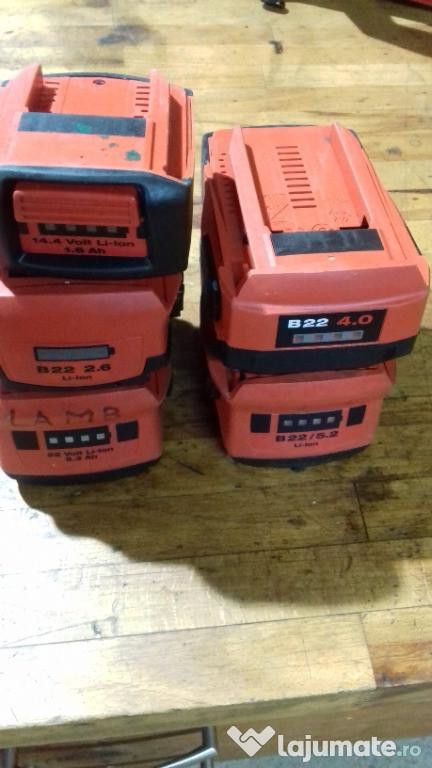 Acumulator baterie HILTI B 22- 2,6ah 3ah 4 ah 5,2 ah