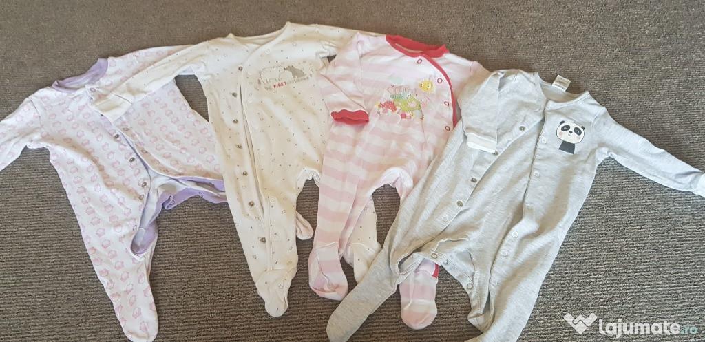 Lot salopete-pijama fete 3-6 luni, impecabile
