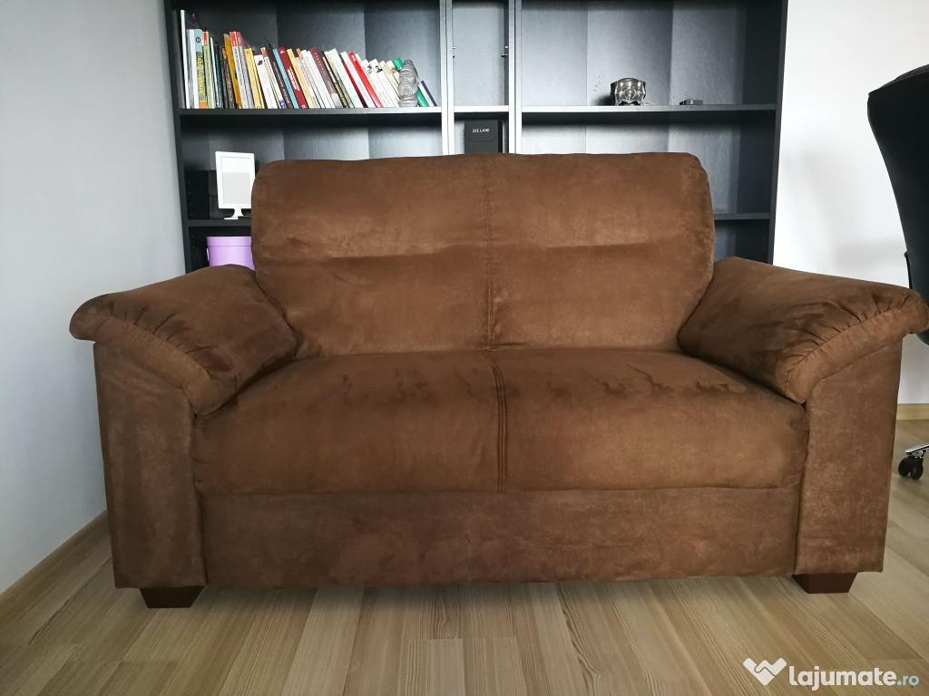 Canapea IKEA fixă din piele întoarsă