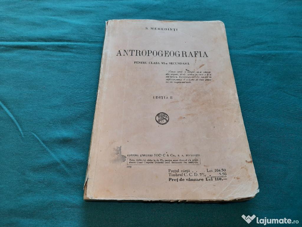 ANTROPOGEOGRAFIA* PENTRU CLASA A VI-A SECUNDARĂ/ S. MEHEDINȚ