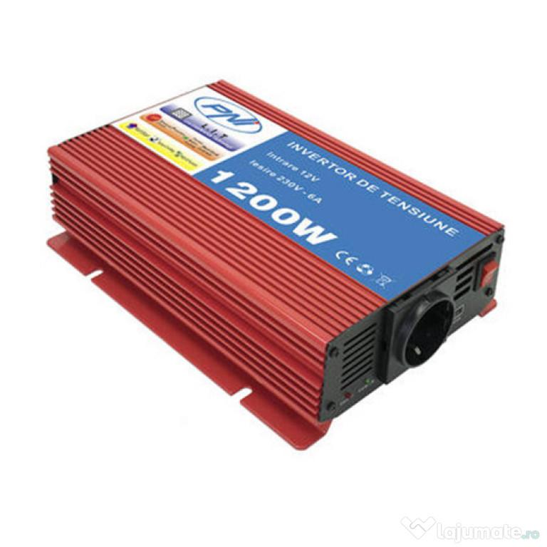 Invertor de tensiune PNI L1200W 12V alimentare duala