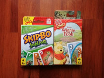 Carti SKIPBO junior si UNO winnie the pooh ( mattel gam