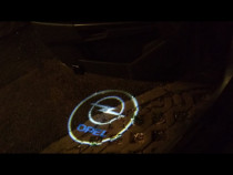 Set welcome logo auto luminos portiera audi, opel, vw, mazda