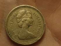 Moneda one pound Marea Britanie pt colectionari