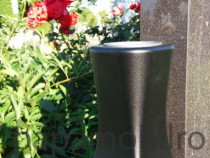 Vaza (suport) flori cimitir , aluminiu , culoare negru mat