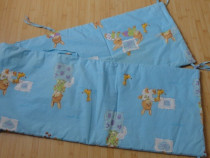 Protectie laterala patut bebe bleu