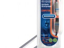 Cablu USB 3.0 Tata - Tata 2.0m , Bandridge BCL5102