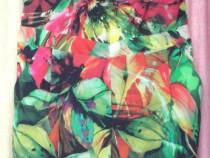 Salopeta de vara subtire, colorata, cu buzunare, elastic