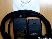 Interfata-diagnoza vcds hex v2 soft 19.6 original ross-tech