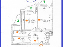 Apartament 2 camere, Unirii intersectie cu Traian, ST 65mp