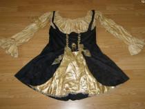 Costum carnaval serbare rochie medievala pirata adulti XL