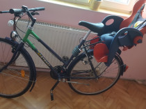 Bicicleta dama KYNAST + scaun bicicleta pt copiii