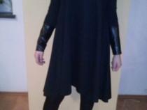 Bluze negre bluza neagra maneci maneca piele bumbac L XL