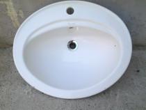 Romstal chiuveta, lavoar ceramic oval, montaj pe blat