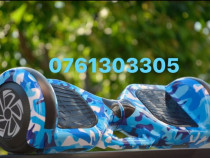 Hoverboard Blue camouflage 1000w NOU Bluetooth-