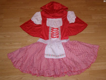 Costum carnaval serbare scufita rosie 7-8 ani