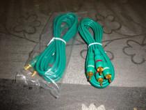 Cablu audio 2x RCA la 2x RCA mufe aurite lungime 1.5m