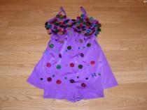 Costum carnaval serbare rochie dans gimnastica 7-8 ani