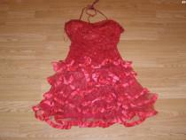 Costum carnaval serbare rochie dans flamengo pentru adulti S