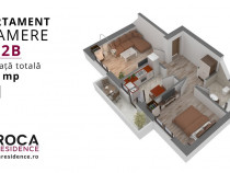 Apartament 2 camere d 53mp  Nicolina-Cug ( Hotel Capitol )