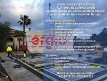 Muncitori montare case Ergio Prod