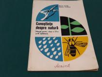 Cunoștințe despre natură*manual clasa a iv-a