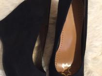 Pantofi dama piele naturala , 38 , noi
