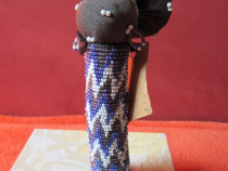 Vintage Zulu Matron Doll -arta africana Zulu din margele