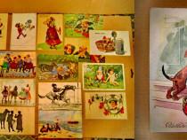 A975-Carti Postale vechi tema comica anii cca 1915-1930.