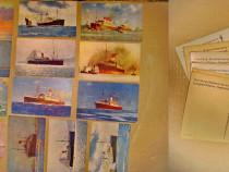 A979-Vapoare epoca vechi ruta Hamburg-Sud America carti pos.