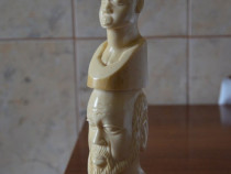 Statueta fildes elefant din Mozambic / Sculptura veche filde