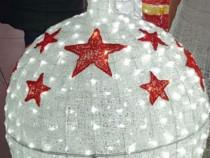 Glob luminos gigant 3D, 1 m inaltime, decoratiune luminoasa