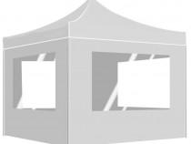 Cort de petrecere pliabil cu pereți, alb, 45490