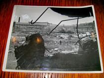 B83-I-3Reich Foto mare Germania dupa bombardament aliat.
