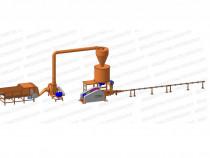 Linie brichetare 400-500 kg/ora brichete diametru 65-70mm