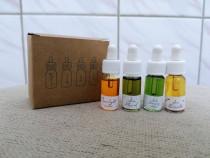 Set 4 uleiuri ulei ten curatare hranire ingrijire Nini UK