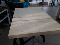 Blat 600 x 600 x 30 mm din lemn masiv de pin