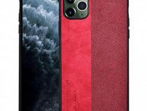 Husa telefon plastic apple iphone 11 pro 5.8 textilred nou