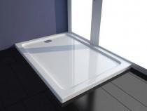 Cădiță de duș dreptunghiulară din ABS, alb 70 x 100 cm141447