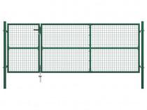 Gard plasă de sârmă cu stâlpi și accesorii 144306