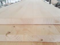 Blat masa 30 mm grosime, 800 mm diametru din lemn masiv de p