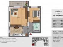 Apartament 2 camere Sector 4, Oltenitei, decomandat
