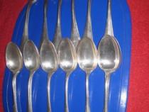 483- Set de 12 linguri si furculite vechi din alpaca arginta