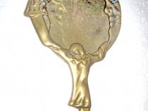 447- Oglinda toaleta dama semiluna zambitoare si personaje.