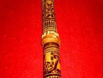 746-Instrument decorativ rustic lemn cu coarde manual execut