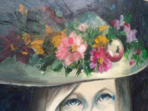 Tablou palaria cu flori  Denyse Bertrand (1921-2011)
